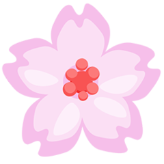 Cherry Blossom facebook messenger emoji