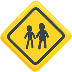 Children Crossing facebook messenger emoji