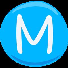 Circled Latin Capital Letter M facebook messenger emoji