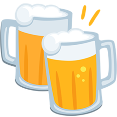 Clinking Beer Mugs facebook messenger emoji