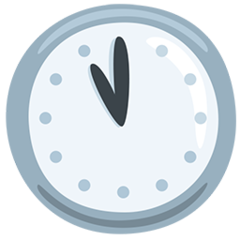 Clock Face Eleven Oclock facebook messenger emoji