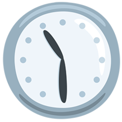 Clock Face Eleven-thirty facebook messenger emoji