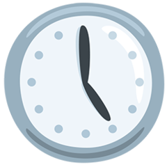 Clock Face Five Oclock facebook messenger emoji