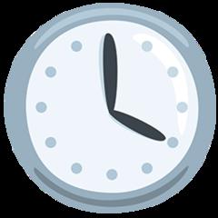 Clock Face Four Oclock facebook messenger emoji