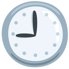 Clock Face Nine Oclock facebook messenger emoji