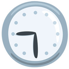 Clock Face Nine-thirty facebook messenger emoji