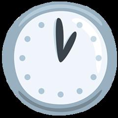 Clock Face One Oclock facebook messenger emoji