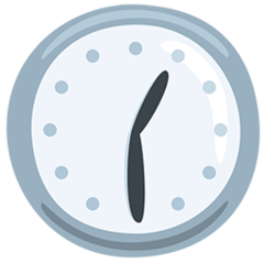 Clock Face One-thirty facebook messenger emoji