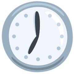 Clock Face Seven Oclock facebook messenger emoji