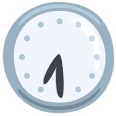 Clock Face Seven-thirty facebook messenger emoji