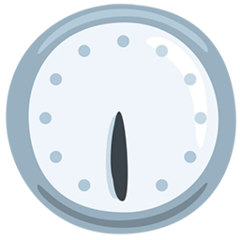 Clock Face Six-thirty facebook messenger emoji