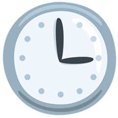 Clock Face Three Oclock facebook messenger emoji