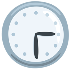 Clock Face Three-thirty facebook messenger emoji