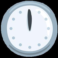 Clock Face Twelve Oclock facebook messenger emoji