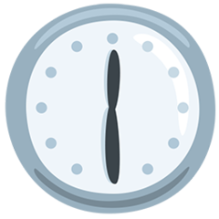 Clock Face Twelve-thirty facebook messenger emoji