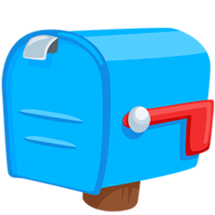 Closed Mailbox With Lowered Flag facebook messenger emoji