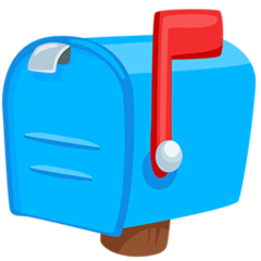 Closed Mailbox With Raised Flag facebook messenger emoji