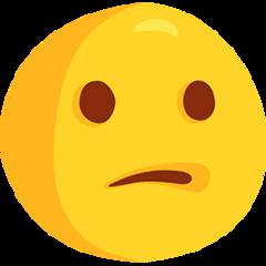 Confused Face facebook messenger emoji
