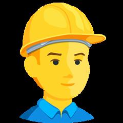 Construction Worker facebook messenger emoji