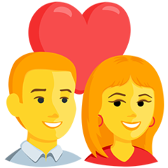 Couple With Heart facebook messenger emoji