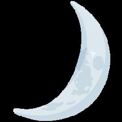 Crescent Moon facebook messenger emoji