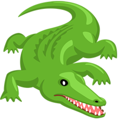 Crocodile facebook messenger emoji