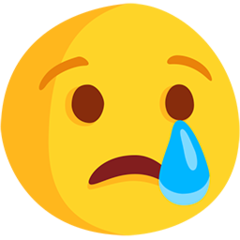 Crying Face facebook messenger emoji