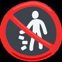 Do Not Litter Symbol facebook messenger emoji