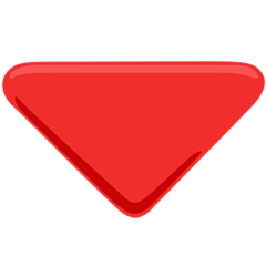 Down-pointing Red Triangle facebook messenger emoji