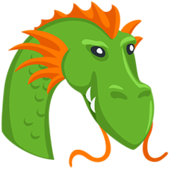 Dragon Face facebook messenger emoji