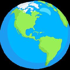 Earth Globe Americas facebook messenger emoji
