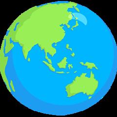 Earth Globe Asia-australia facebook messenger emoji