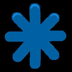 Eight Spoked Asterisk facebook messenger emoji