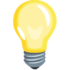 Electric Light Bulb facebook messenger emoji