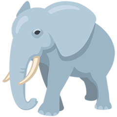 Elephant facebook messenger emoji