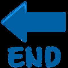 End With Leftwards Arrow Above facebook messenger emoji