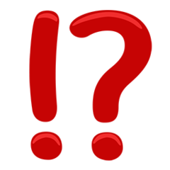 Exclamation Question Mark facebook messenger emoji
