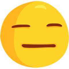 Expressionless Face facebook messenger emoji