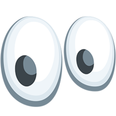Eyes facebook messenger emoji