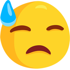 Face With Cold Sweat facebook messenger emoji