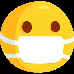 Face With Medical Mask facebook messenger emoji