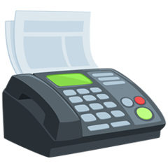 Fax Machine facebook messenger emoji