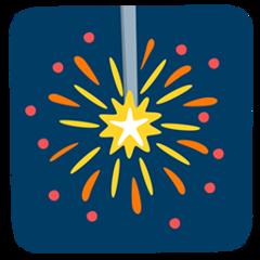 Firework Sparkler facebook messenger emoji