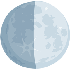 First Quarter Moon Symbol facebook messenger emoji