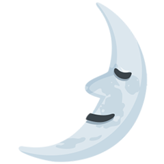 First Quarter Moon With Face facebook messenger emoji
