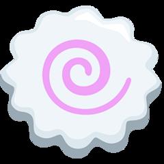 Fish Cake With Swirl Design facebook messenger emoji