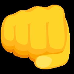 Fisted Hand Sign facebook messenger emoji
