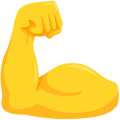 Flexed Biceps facebook messenger emoji