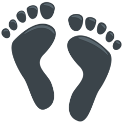 Footprints facebook messenger emoji