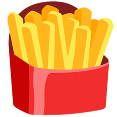 French Fries facebook messenger emoji